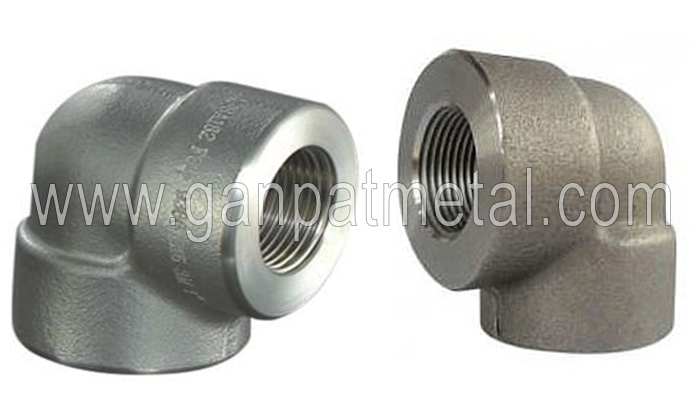 ASTM A403, 234, 182, 815 Threaded 90° Elbow Manufacturer/Supplier/Exporter In India